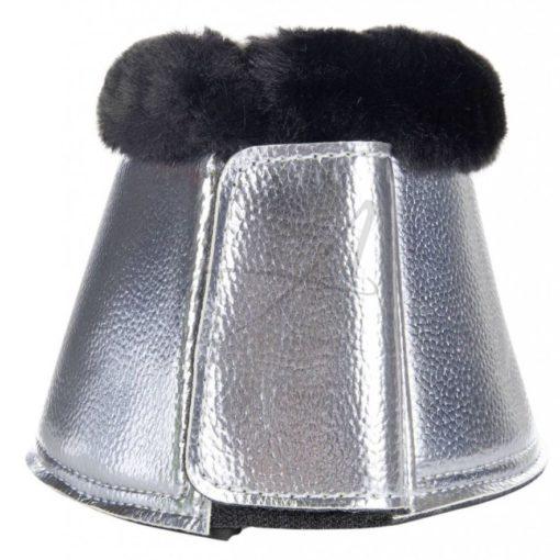hkm boots metallic silver